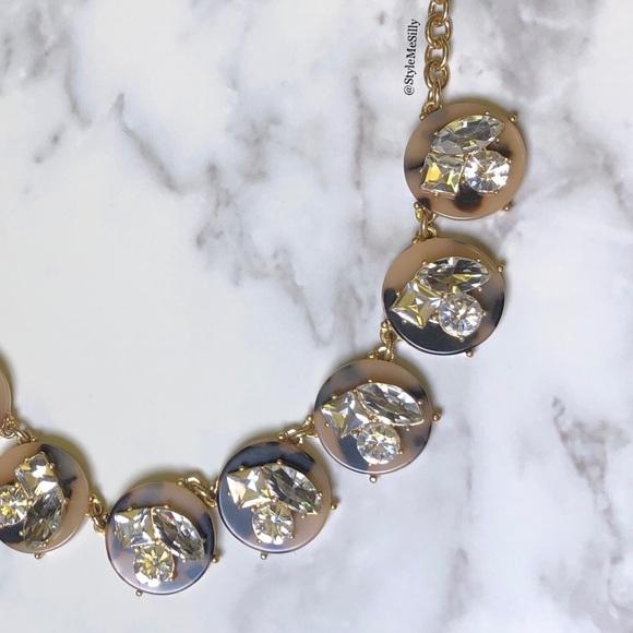 J. Crew Jewelry - J. Crew tortoiseshell & crystal statement necklace
